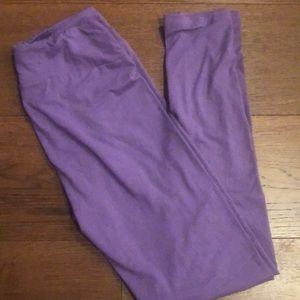 Lularoe NWT OS Dark purple leggings